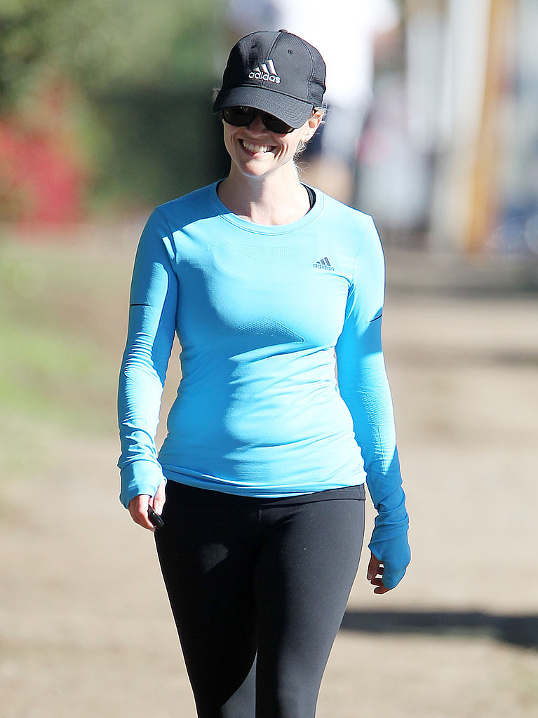 Reese Witherspoon donned workout gear for an afternoon walk.