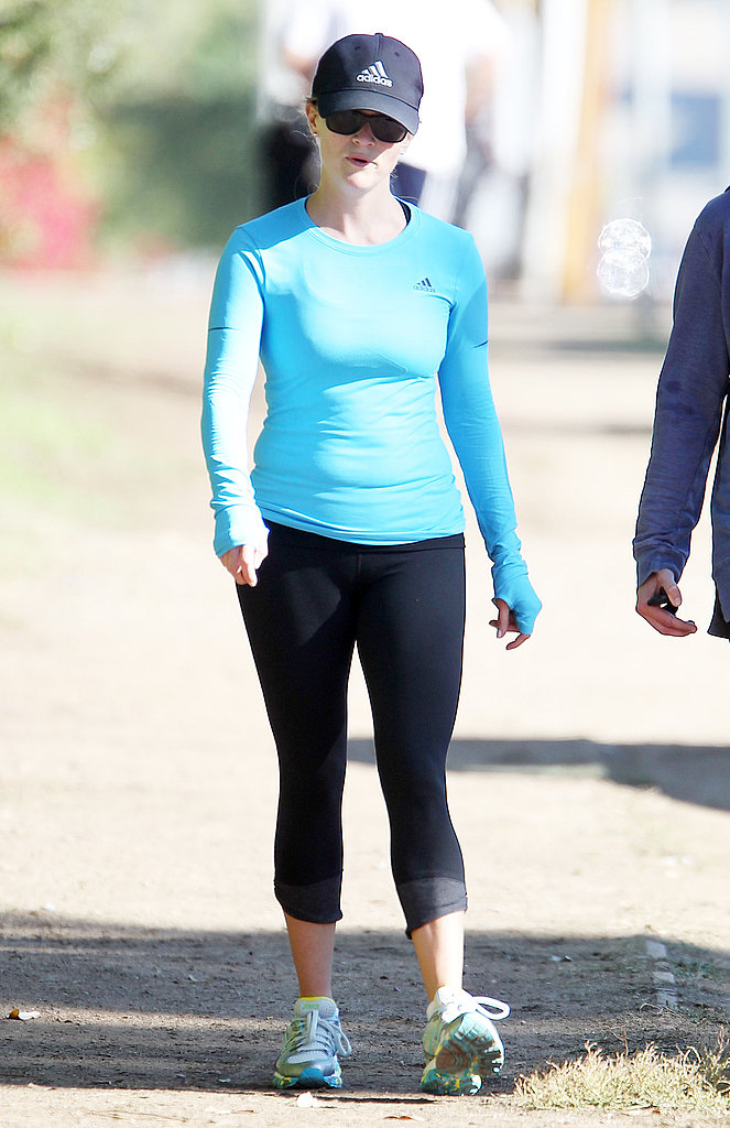 Reese Witherspoon laced up her athletic shoes for a walk.