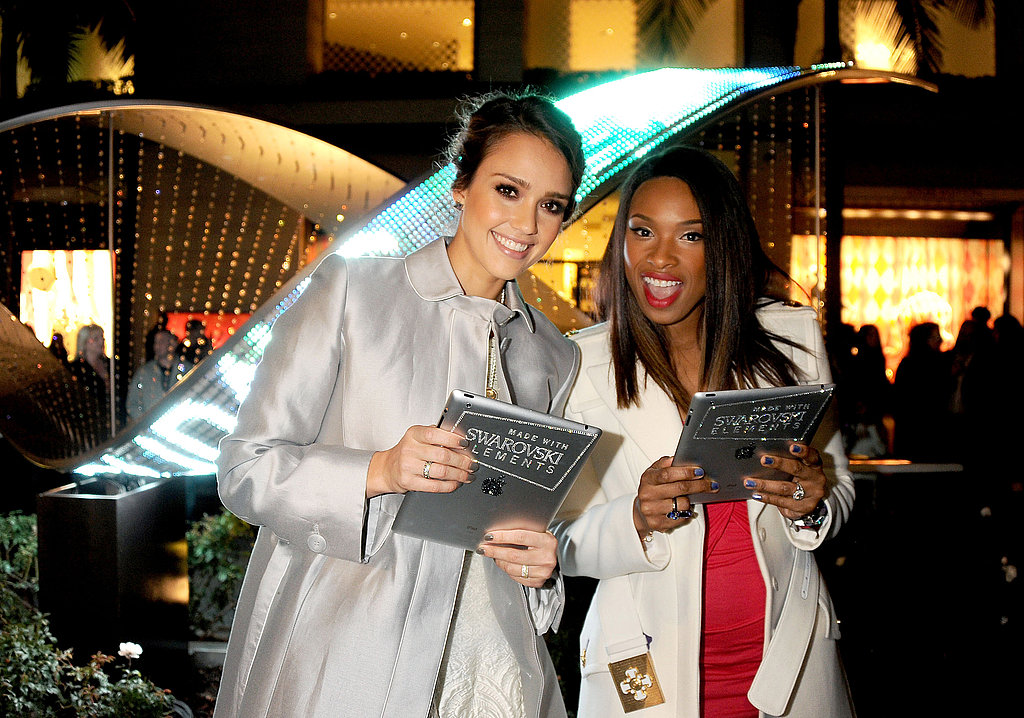 Jessica Alba and Jennifer Hudson had fun together at an event.
