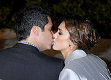 Cash Warren and Jessica Alba kissed at a Swarovski event.
