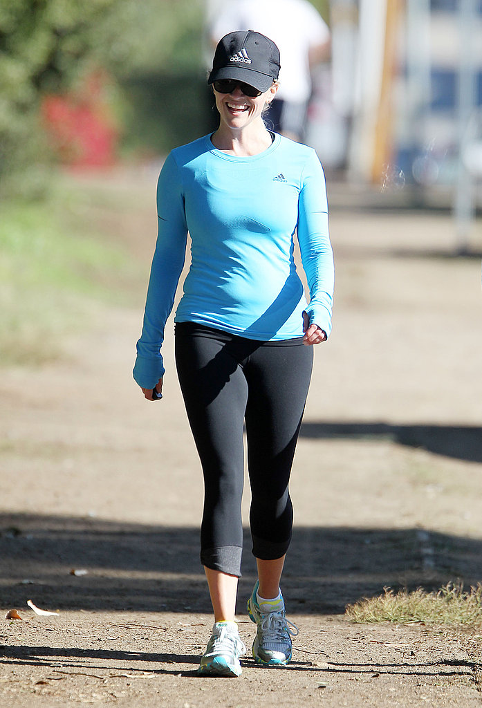 Reese Witherspoon hit the trail near her LA home.