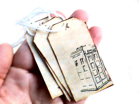 Doctor Who Gift Tags ($9, Set of 12)