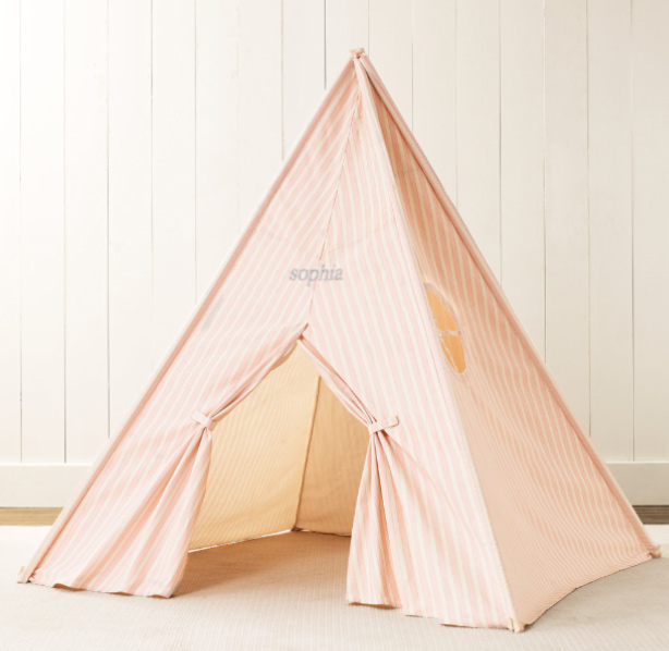Printed Canvas Play Tent ($235)