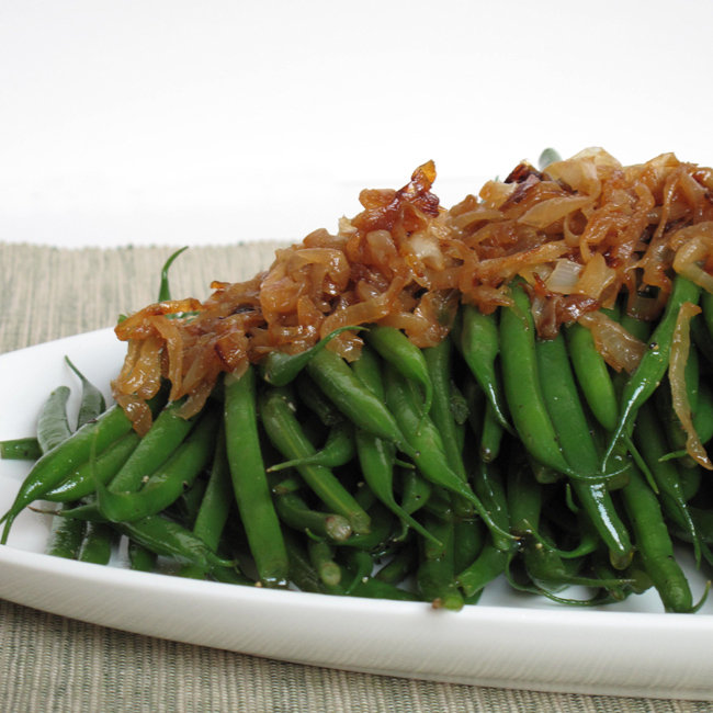 Green Beans With Caramelized Onions Recipe | POPSUGAR Food