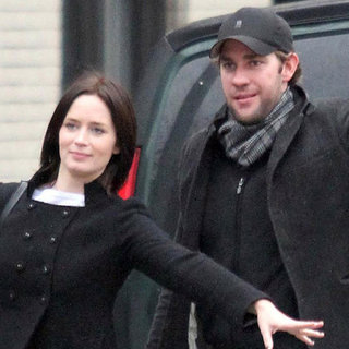 Emily Blunt and John Krasinski Catch a Cab in Soho Pictures