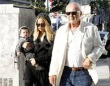 Rachel Zoe's father, Ron Rosenzweig, escorted her and baby Skyler on an art-shopping trip.