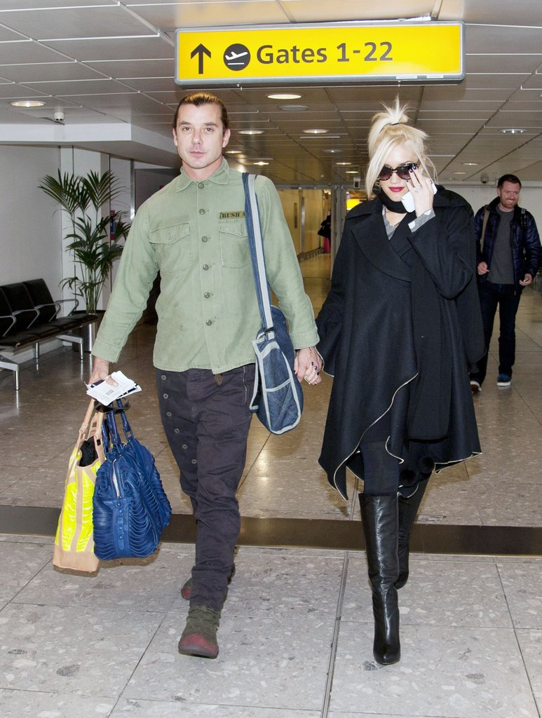 Gwen Stefani and Gavin Rossdale catching a flight.