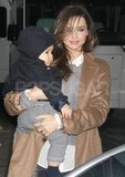 Miranda Kerr and Flynn Bloom walked around NYC.