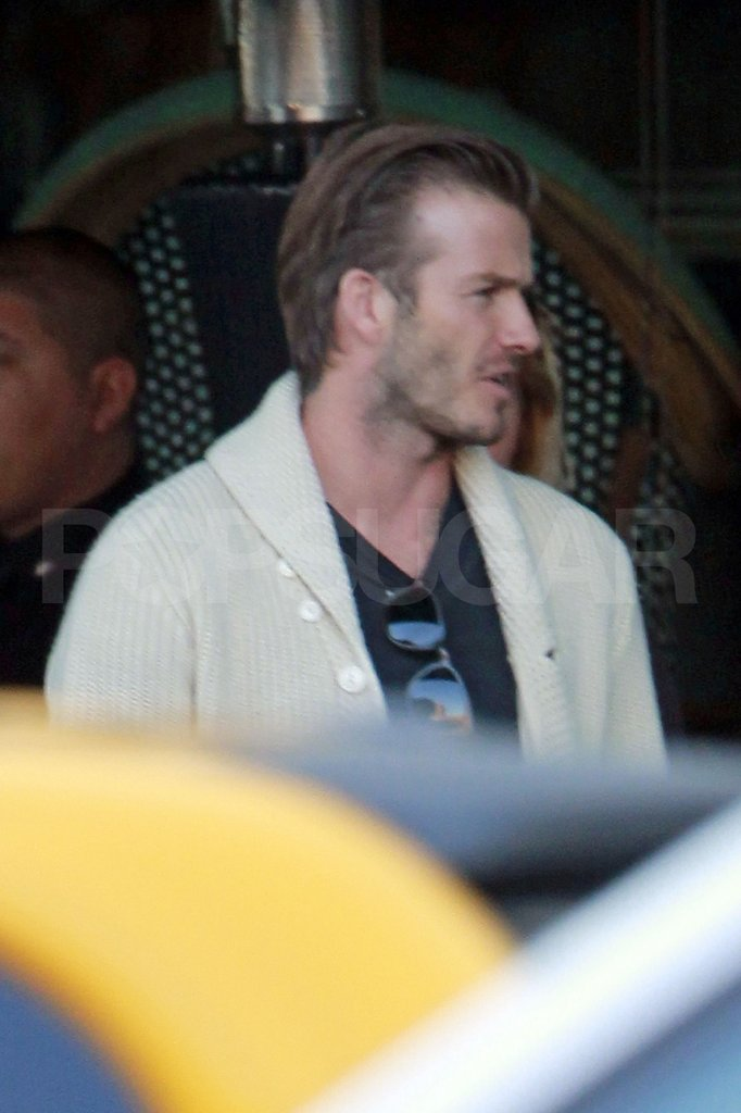 David Beckham wore a sweater in LA.