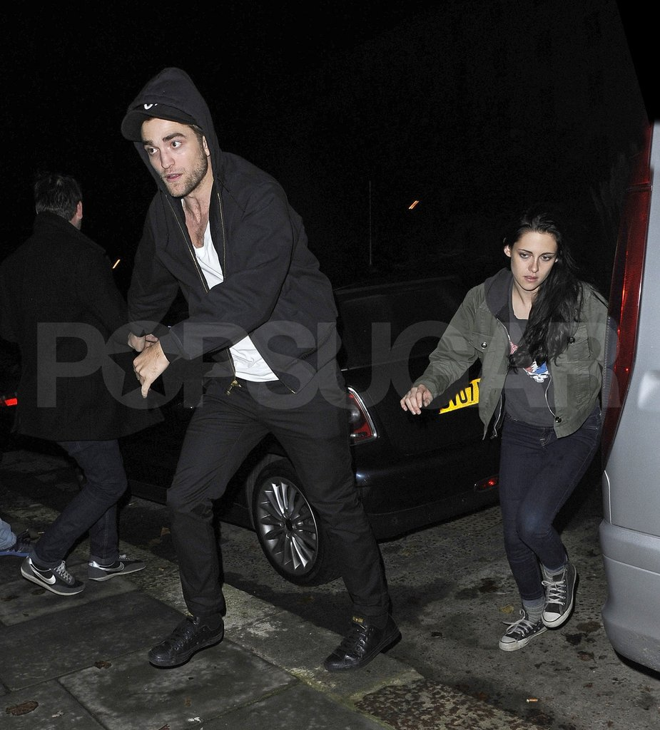 Robert Pattinson and Kristen Stewart headed back to their London home.