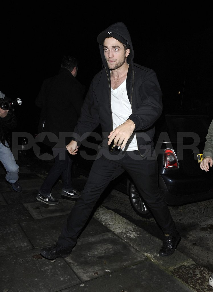 Robert Pattinson went home after a Marcus Foster show.