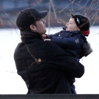 Tom Brady and Ben Brady Boston Park Pictures