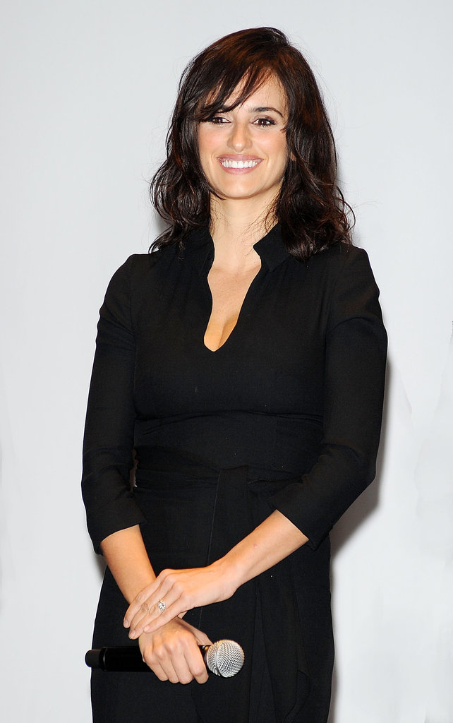 Penelope Cruz wore black to a Turin cinema event.