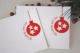 Letterpress Holiday Card Set w/Ornaments ($34 for 20)