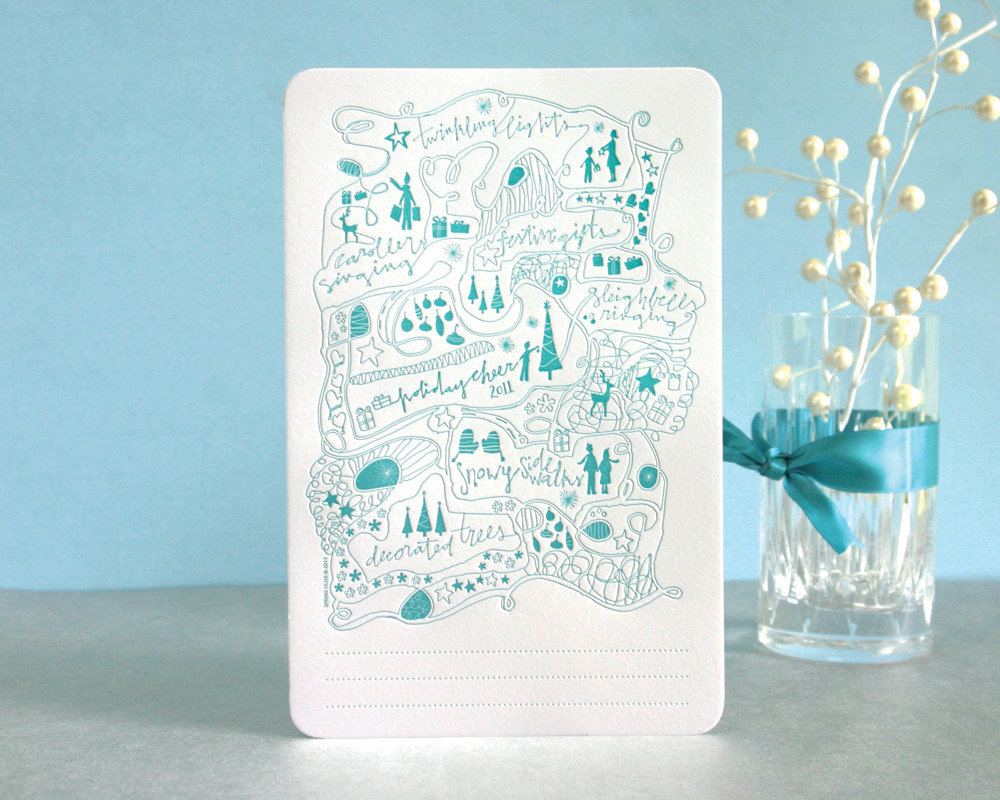 Winter Wonderland Letterpress Holiday Card ($5)