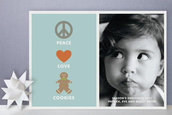Peace Love Cookies Holiday Photo Cards ($64 For 25)