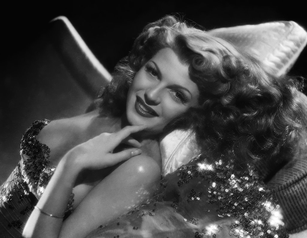 Rita Hayworth's Cascading Curls
