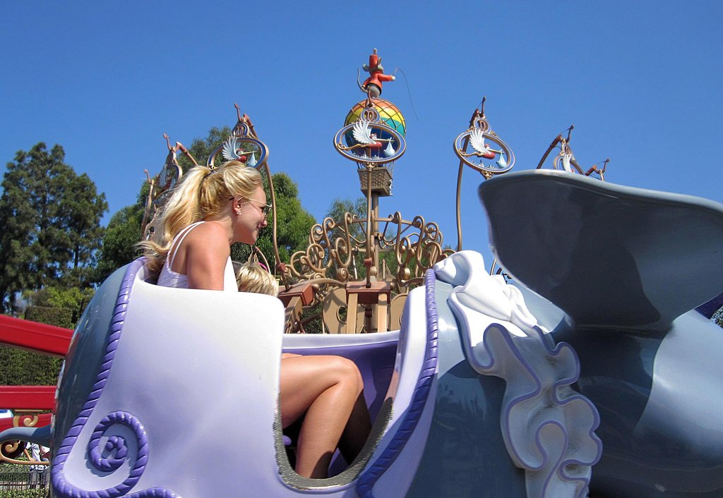 Britney Spears was spotted on a Disneyland ride in July 2010.
