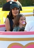 In July 2010, Salma Hayek and Valentina hopped on the teacups.