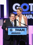 Charlize Theron and Elizabeth Olsen Kick Off Statue Season With the Gotham Awards