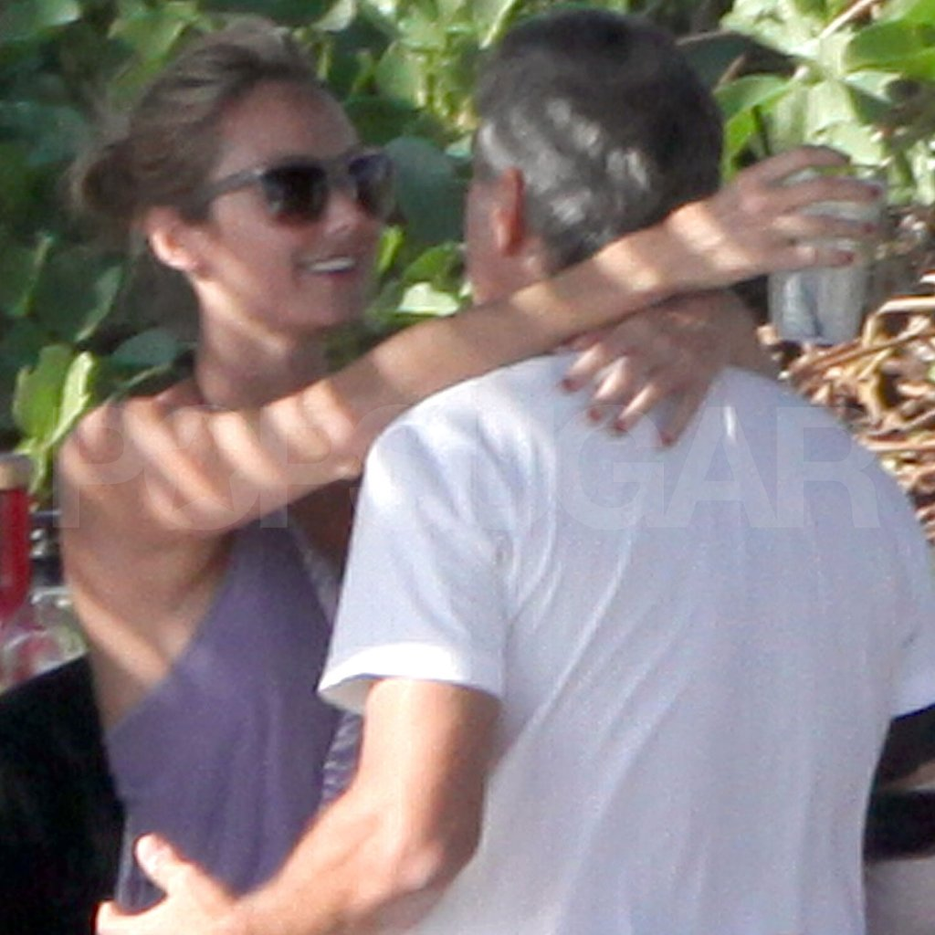 George Clooney and Stacy Keibler Show Love in Cabo With A Rod