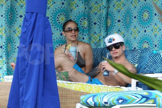 See Bikini-Clad Jennifer Lopez's Cuddle With Shirtless Guy Casper Smart