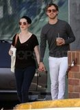 Adam Shulman and Anne Hathaway grabbed coffee during an April 2010 visit to LA.