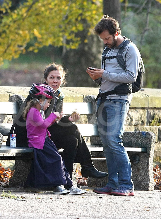 Maggie Gyllenhaal, Peter Sarsgaard, and Ramona Sarsgaard over Thanksgiving weekend.