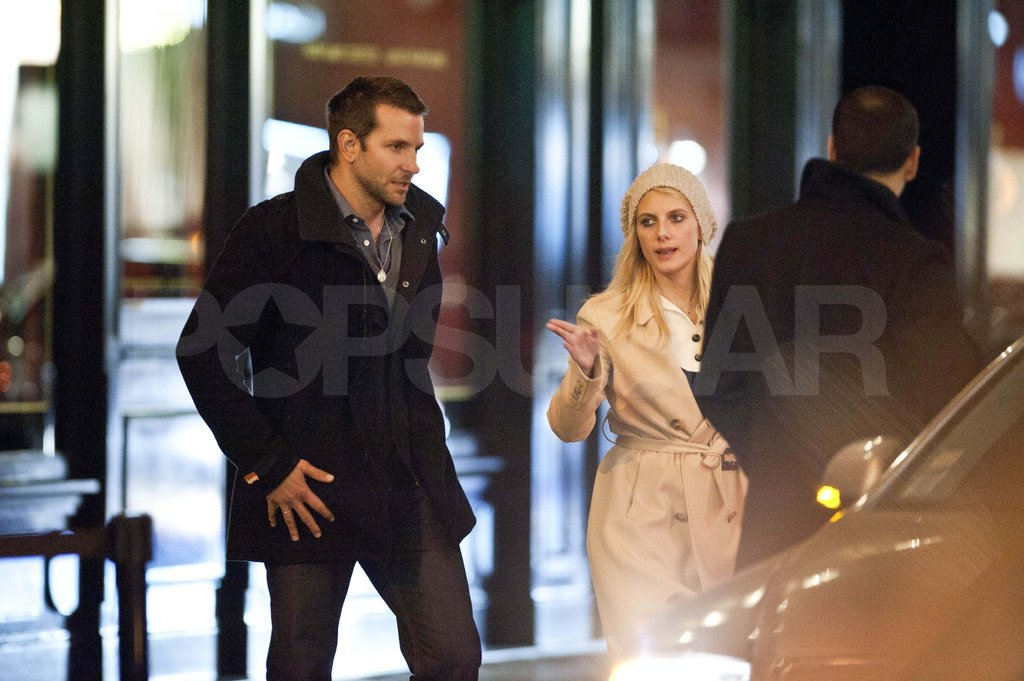 Bradley Cooper and Melanie Laurent in Paris.
