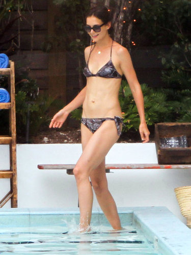 Katie Holmes tested the water in Miami during a July 2011 getaway.