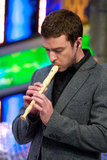 Justin Timberlake played the recorder in Madrid.