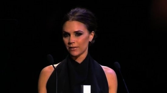"Video: A Tearful Victoria Beckham Says Award Is ""A Dream Come True"""