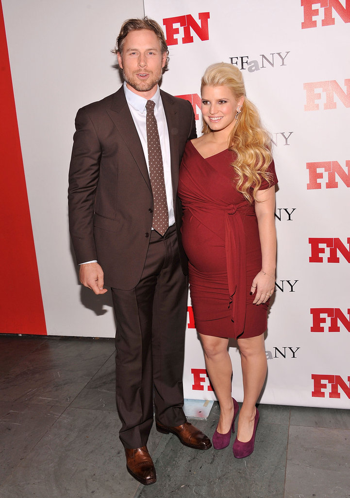 Jessica Simpson and Eric Johnson attended the Footwear News Achievement Awards in NYC together.