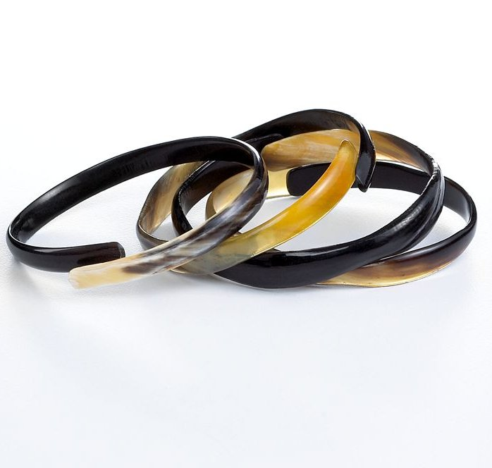 These bangles would be a welcome addition to anyone's wrist, and as a part of the Heart of Haiti collection, the purchase helps provide steady work for many Haitians.  Heart of Haiti Jewelry, Set of 4 Ring Bracelets ($25)
