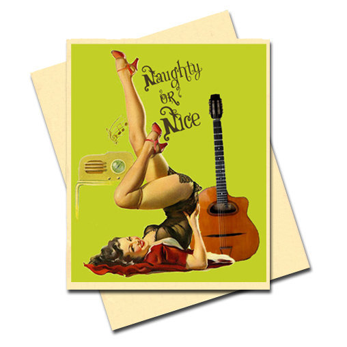 Add Spice to Your Season's Greetings With Pinup Cards