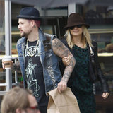 Nicole Richie smiled after grabbing coffee with Joel Madden.