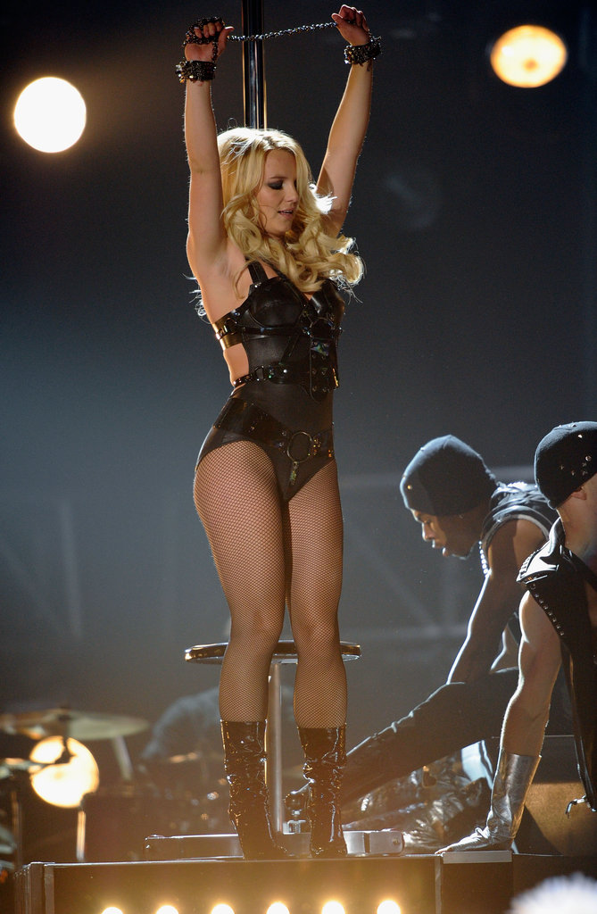 Britney Spears got sexy on stage in Las Vegas in May 2012.