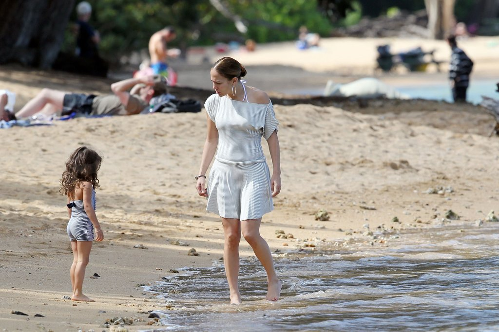 Jennifer Lopez dipped her toes in the water.