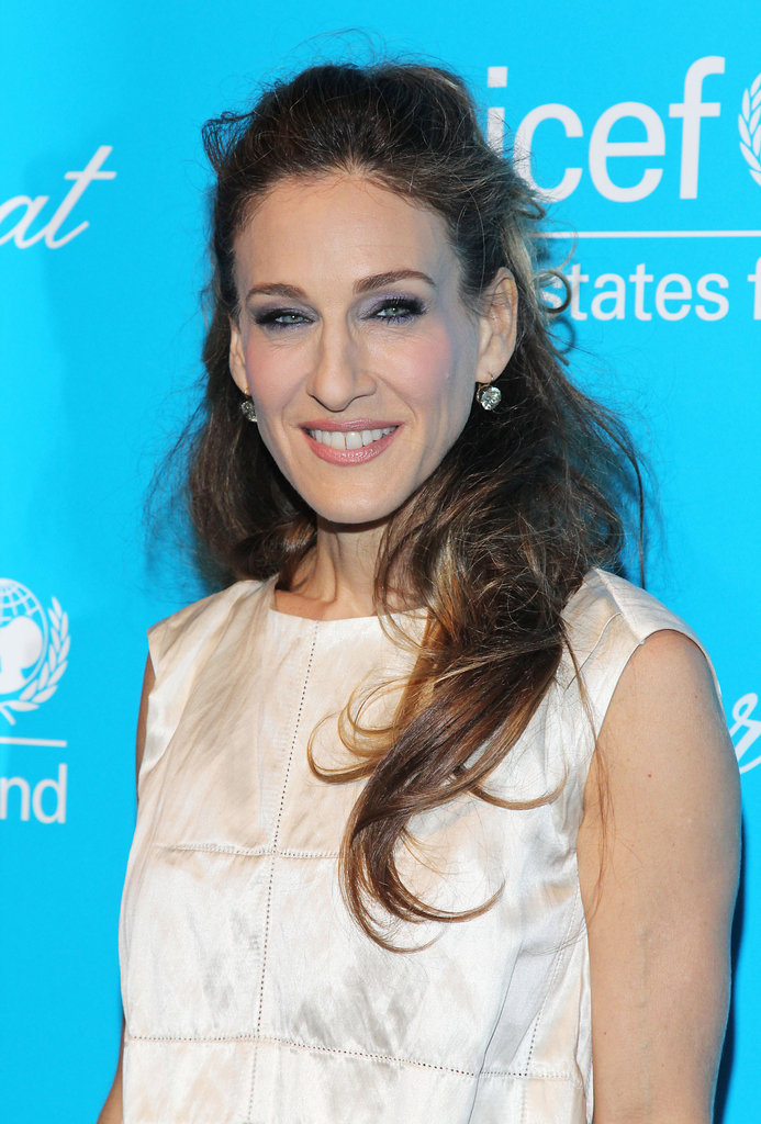 Sarah Jessica Parker wore a sleeveless dress to a party in NYC.