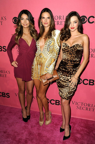 Lily Aldridge, Alessandra Ambrosio, and Miranda Kerr dressed in sexy party frocks for the 2011 Victoria's Secret Fashion Show viewing party in Costa Mesa.