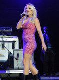 Britney Spears talked to the 2011 Wango Tango crowd in LA.