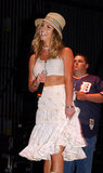 Britney Spears worked a sweet look during a May 2003 appearance in New Jersey.