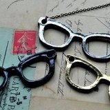 A cheeky necklace like this is a smart find for any of your geeky-chic pals.  Eyeglasses Necklace ($27)
