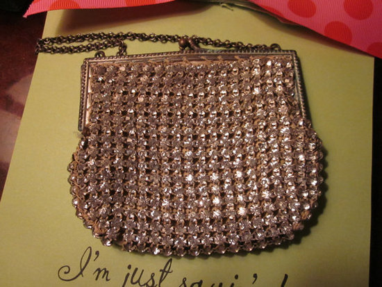 An impressive vintage find that looks a lot more expensive than it is — this is sure to elicit a lot of oohing and ahh-ing at present-opening time. Vintage Rhinestone Mirror Bag ($54)