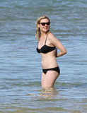 Kirsten Dunst on vacation in Hawaii.