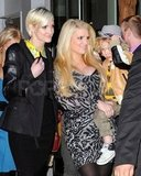 Jessica Simpson with Ashlee and Bronx in NYC.