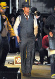 Ryan Gosling confidently strutted onto the LA set of Gangster Squad.