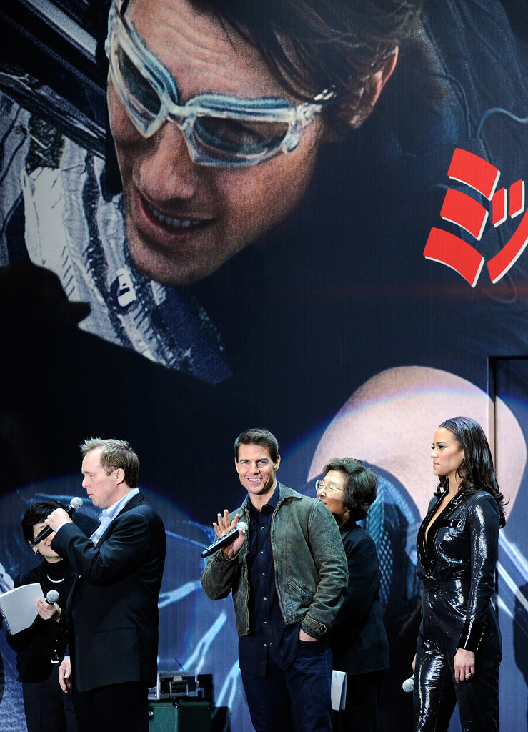 Tom Cruise and Paula Patton promoted Mission: Impossible — Ghost Protocol in Tokyo.