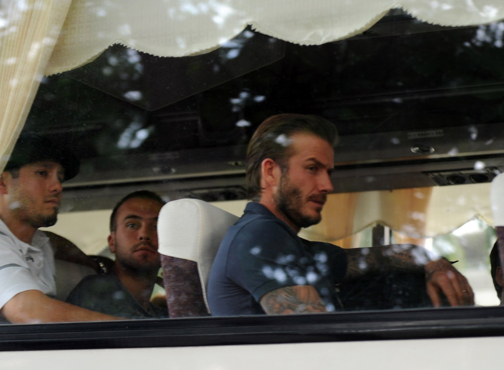 David Beckham and his Galaxy teammates arrived in Manila, Philippines, on Dec. 1.