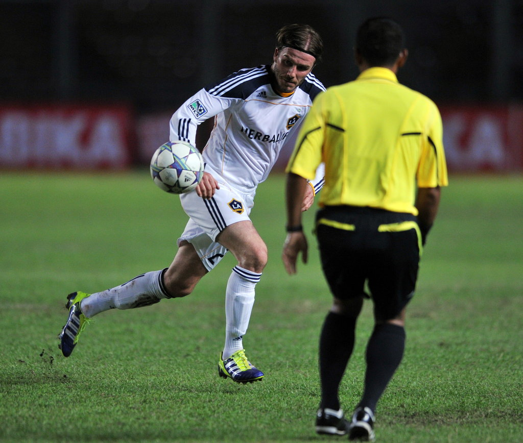 David Beckham played in Jakarta on Nov. 30.